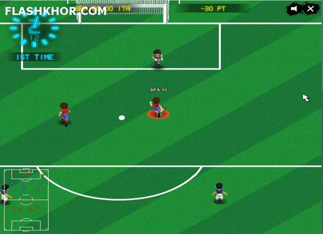 بازی آنلاین فوتبال یورو 2012 جی اس سوکر فلش
