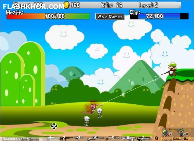 بازی آنلاین ماریو و سونیک و زامبی کشی - تیر اندازی فلش