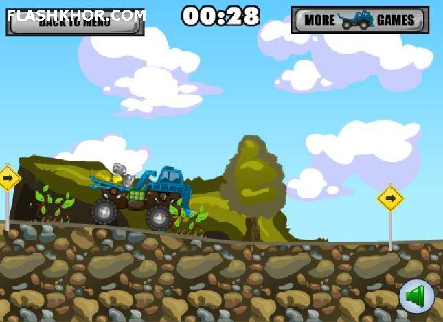 بازی آنلاین کامیون سواری حمل صخره فلش