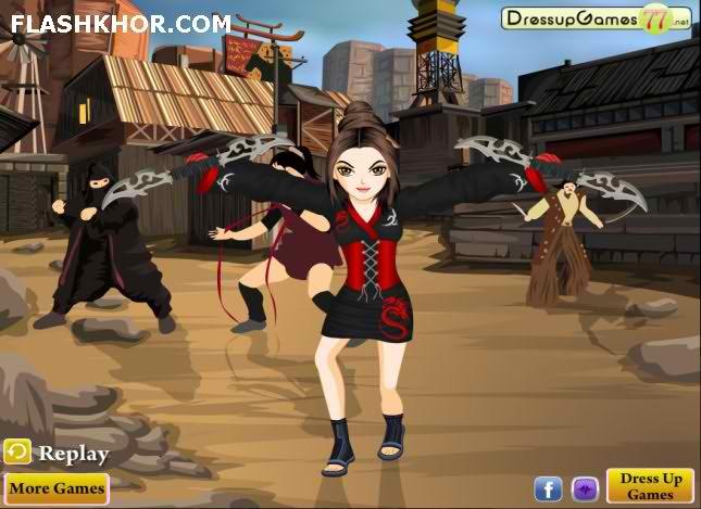 بازی آنلاین ست لباس چالش نینجا - دخترانه فلش