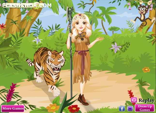 بازی آنلاین ست لباس ملکه زیبای جنگل - دخترانه فلش