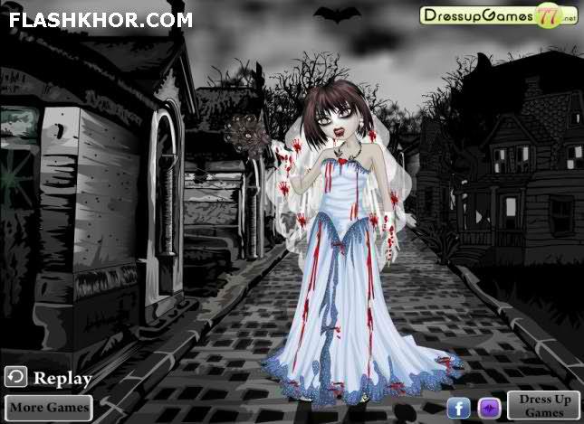 بازی آنلاین ست لباس عروس زامبی - دخترانه فلش