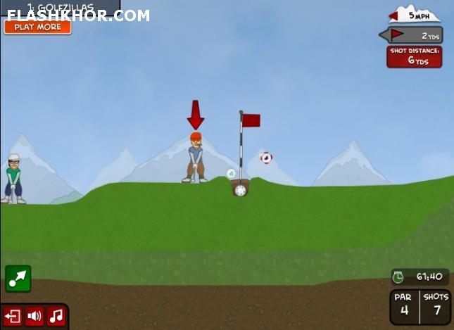 بازی آنلاین گلف باز حرفه ای - ورزشی گلف فلش