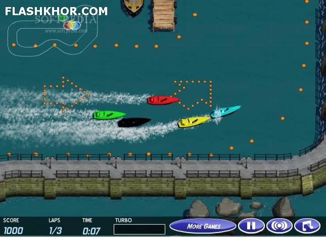 بازی آنلاین قایق سواری : مسابقات قایق های تندرو - ورزشی فلش
