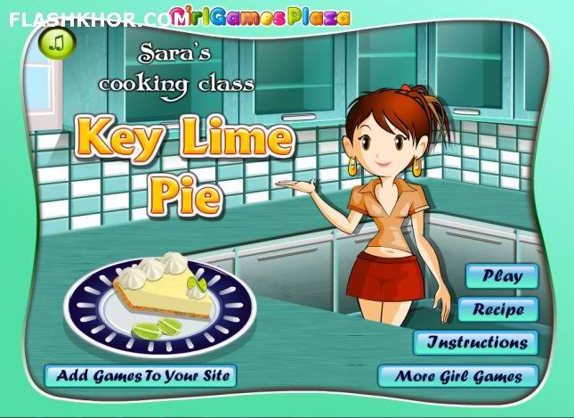 بازی آنلاین شیرینی پزی پای کلید لیموترش - دخترانه فلش