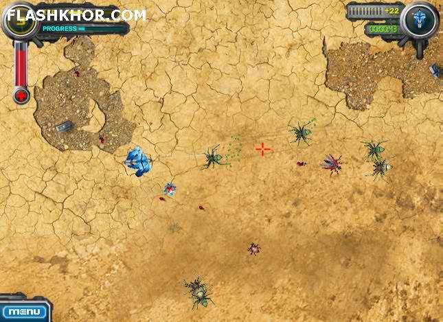 بازی آنلاین ربات مدافع - اکشن فلش