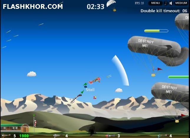 بازی آنلاین هواپیما سواری مبارزه در آسمان - جنگی فلش