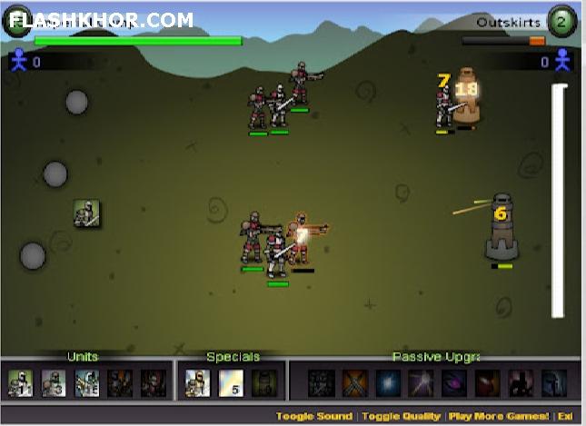 بازی آنلاین پادشاهی آلوده -  استراتژی فلش