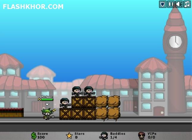 بازی آنلاین محاصره شهر - جنگی تیر اندازی فلش