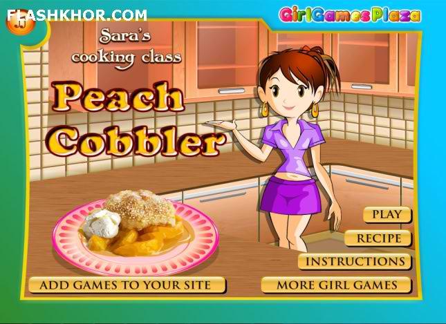 بازی آنلاین شیرینی پزی کیک کابلر هلو فلش