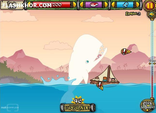 بازی آنلاین نهنگ قاتل 2 موبی دیک - اکشن فلش