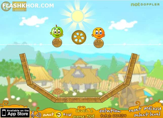 بازی آنلاین حفاظت از پرتقال ها: بسته بازیبازهای 2 - فکری فیزیک فلش