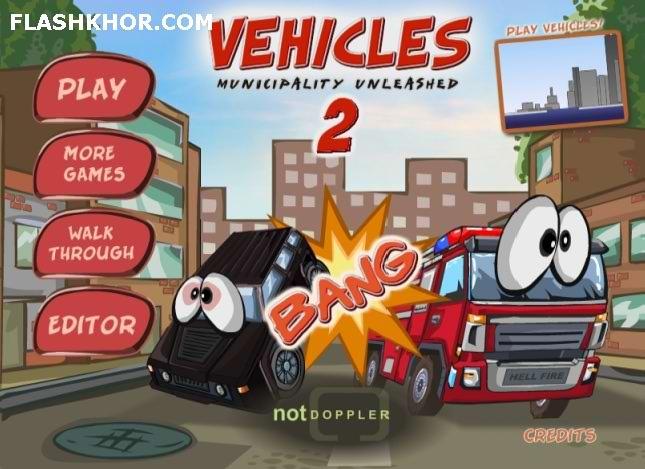بازی آنلاین تصادف با ماشین ها 2 - اکشن فلش