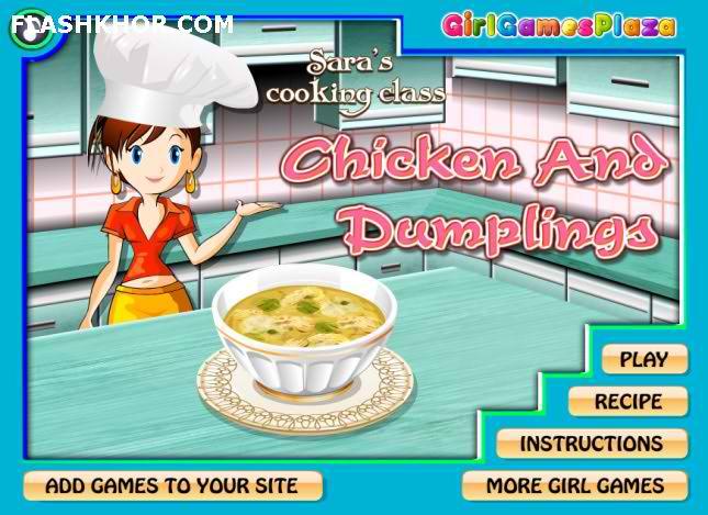 بازی آنلاین آشپزی مرغ و پیراشکی - دخترانه فلش