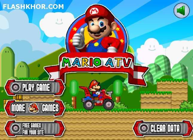 بازی آنلاین ماریو ای تی وی سواری - ورزشی فلش
