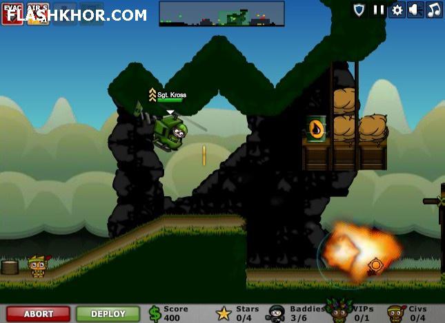 بازی آنلاین محاصره شهر 3 : مبارزه در جنگل فلش