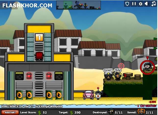 بازی آنلاین محاصره شهر : تک تیر انداز - تیراندازی فلش