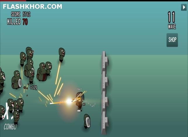 بازی آنلاین ده ها زامبی - تیر اندازی فلش