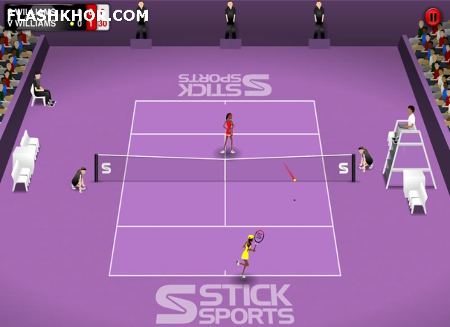 بازی آنلاین تنیس : جام قهرمانی - ورزشی فلش