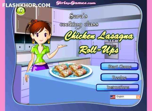 بازی آنلاین آشپزی رولت لازانیای مرغ - دخترانه فلش
