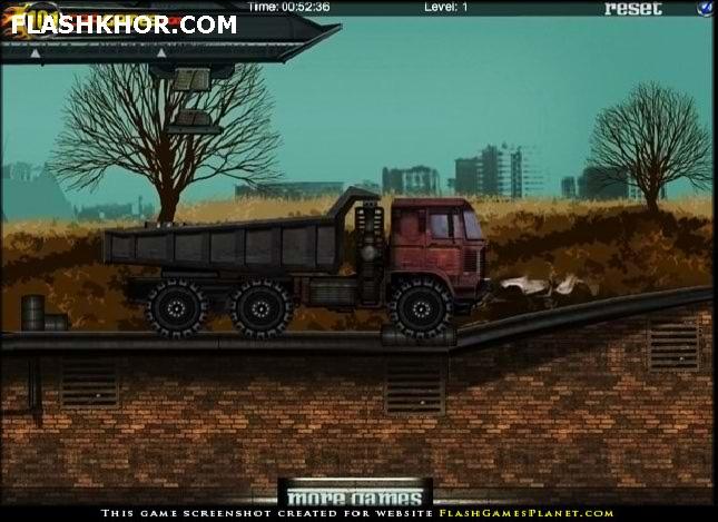 بازی آنلاین کامیون سنگین ترابری - فیزیک فلش