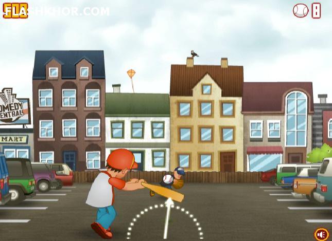 بازی آنلاین بیس بال بچه شر - ورزشی فلش