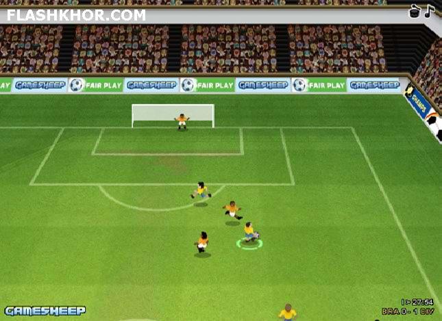بازی آنلاین فوتبال جام جهانی 2010 قهرمانان سه بعدی- ورزشی فلش