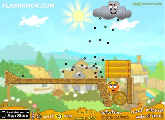 بازی آنلاین حفاظت از پرتقال ها: بسته بازیبازهای 3 - فکری فیزیک فلش