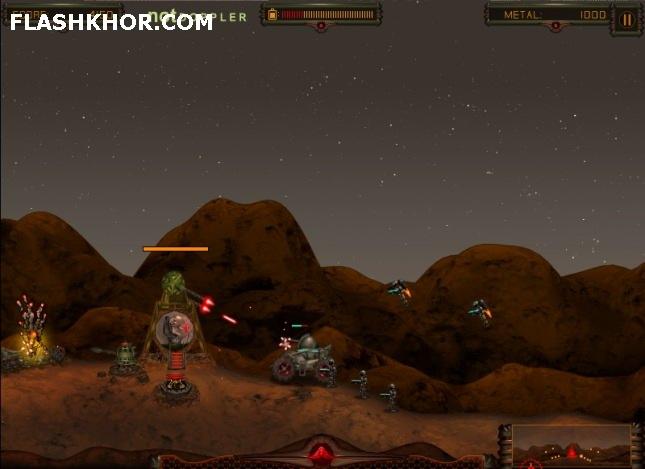 بازی آنلاین آخرین برجک در مریخ - تیر اندازی فلش