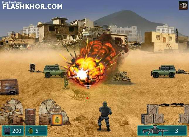 بازی آنلاین عملیات با اسم رمز نیلی - جنگی تفنگی فلش