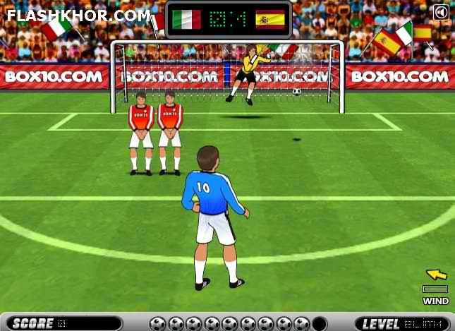 بازی آنلاین فوتبال ضربات ایستگاهی کیکس یورو 2012 - ورزشی فلش
