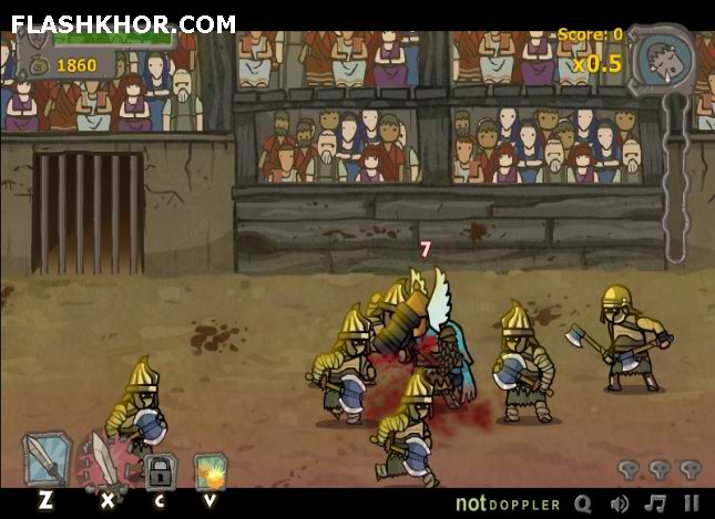 بازی آنلاین گلادیاتور میدان مبارزه - اکشن فلش