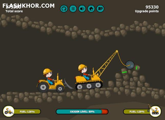 بازی آنلاین برادران بولدوزر - فکری فیزیک فلش