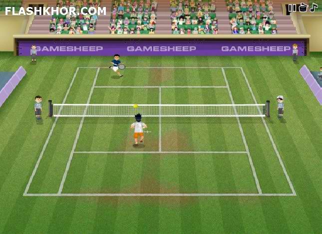بازی آنلاین تنیس قهرمانان - ورزشی فلش