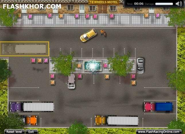 بازی آنلاین پارک ماشین کامیون 18 چرخ یک - ورزشی فلش