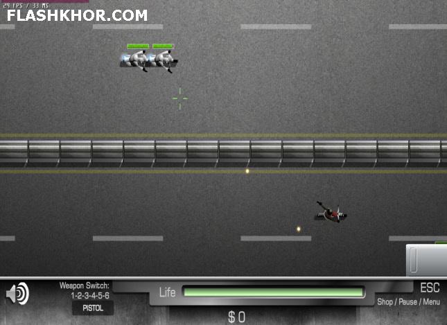 بازی آنلاین در تعقیب موتور سوار - اکشن فلش