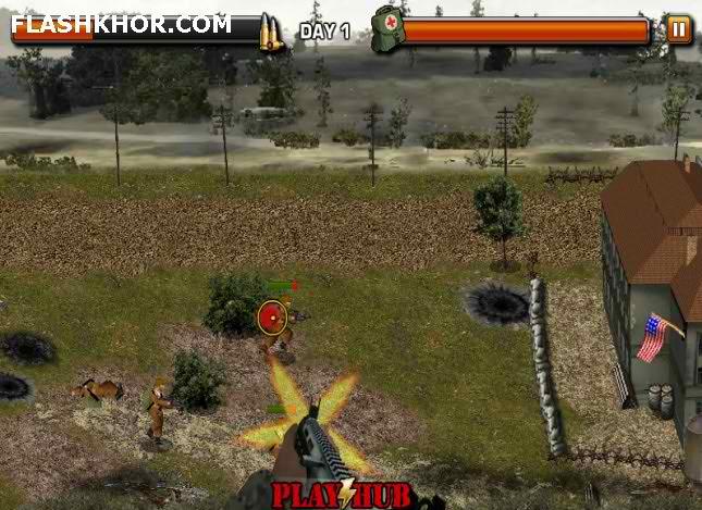 بازی آنلاین آخرین جنگ - تیر اندازی فلش