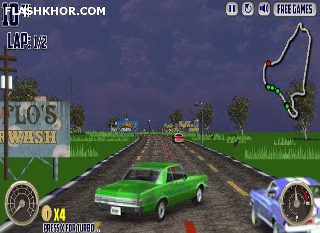 بازی آنلاین ماشین سواری وی 8 غول پیکر فلش