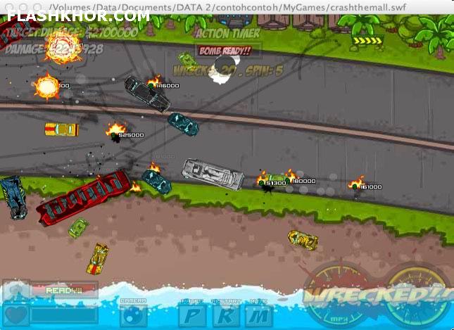 بازی آنلاین ماشین سواری همه را منفجر کن - اکشن فلش