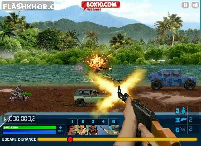 بازی آنلاین بزرگراه مرگبار - تیر اندازی فلش