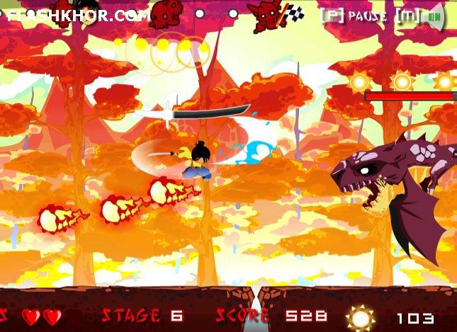 بازی آنلاین سامورایی پاییز - نینجا شمشیری فلش