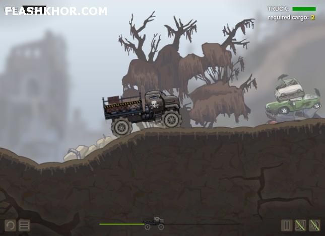 بازی آنلاین کامیون سواری در شهر تاریک - ورزشی فلش