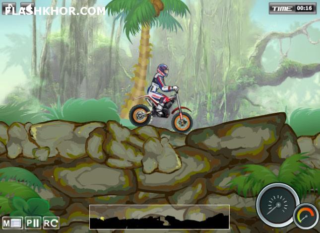 بازی آنلاین موتور سواری در جنگل - ورزشی فلش
