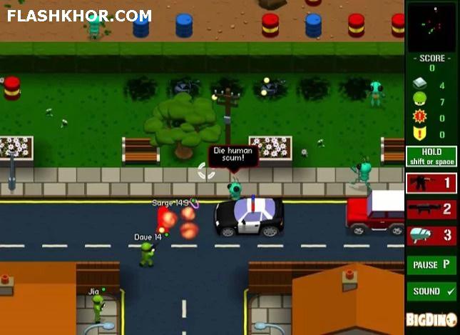 بازی آنلاین جوخه جیب سوار - جنگی فلش