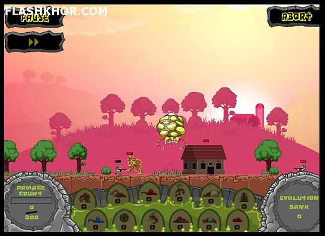 بازی آنلاین حمله بیگانگان - استراتژیک فلش