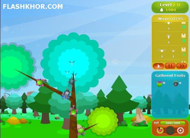 بازی آنلاین درخت بزرگ مدافع - استراتژی فلش