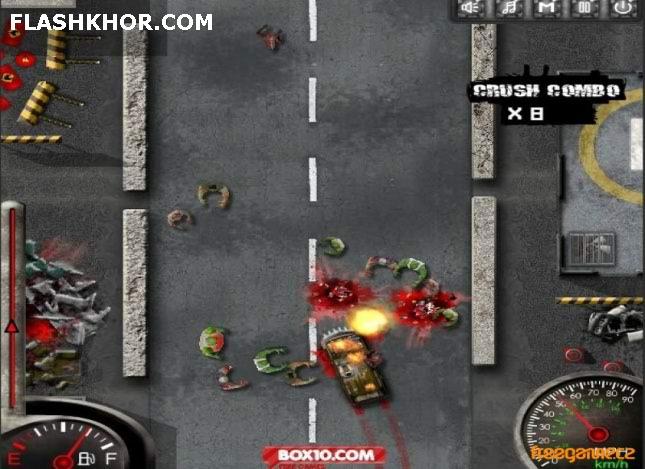 بازی آنلاین ماشین رنده کننده زامبی 2 : انتقام - اکشن فلش