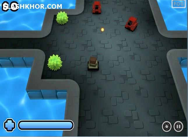 بازی آنلاین تانک مکعبی - اکشن فلش