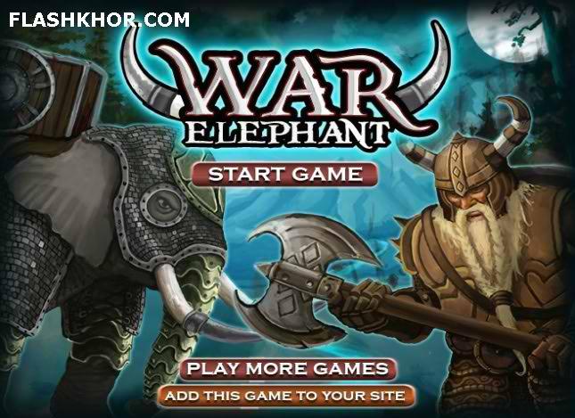 بازی آنلاین جنگ فیل ها - اکشن فلش
