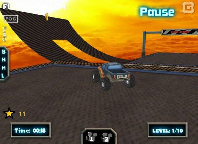 بازی آنلاین کامیون سواری بازگشت کامیون هیولای سه بعدی - ورزشی فلش